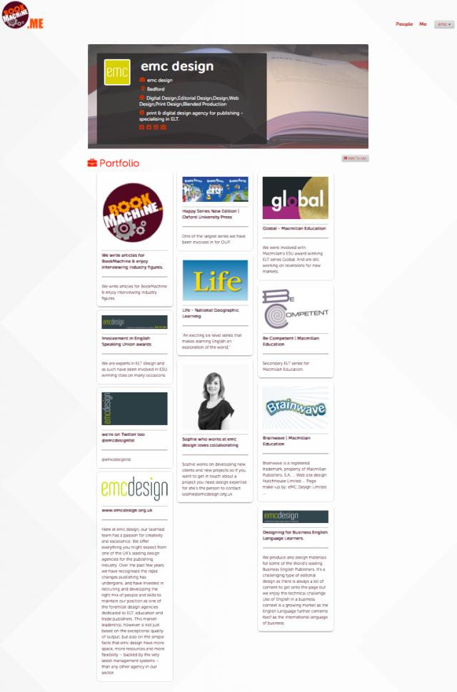 emc design's bookmachine.me page