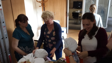 Cheryl, Helen, Abigail & Becky making Jack & Jill