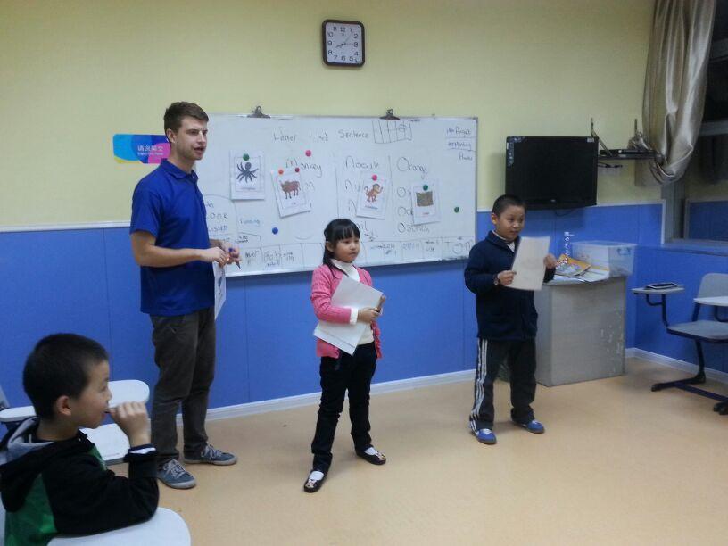 Ben teaching a class.