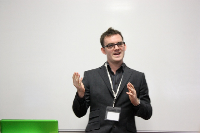 Nick Coveney during the Make Good Stuff session. (SYP)