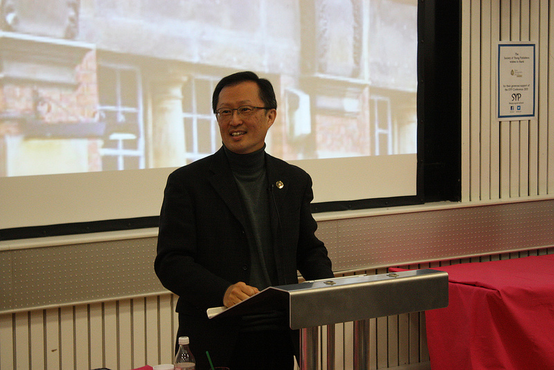 Y.S. Chi during his Opening Keynote. (courtesey of SYP)