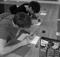 Dale and Jordan transferring their designs