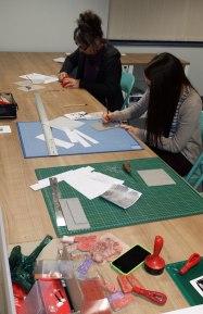 Transferring designs to lino